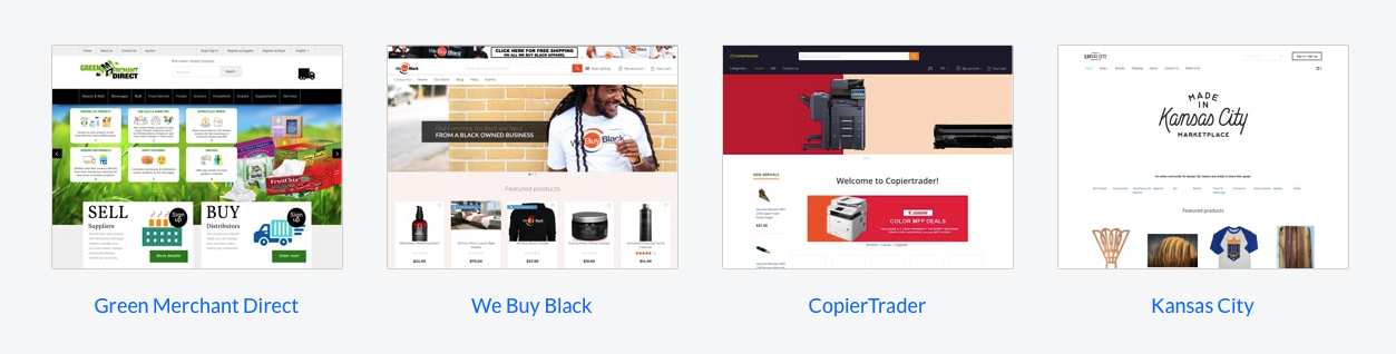 B2B eCommerce examples built with X-Cart