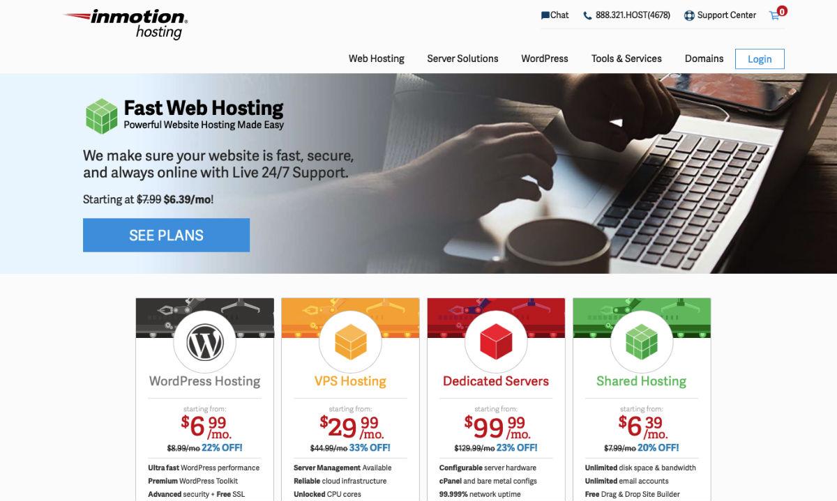 InMotion eCommerce website hosting