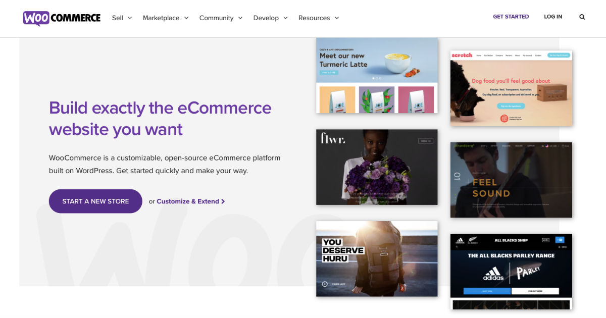 Woocommerce eCommerce website builder