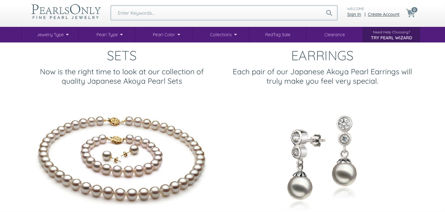 PearlsOnly category page