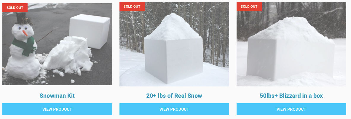 Natural snow to sell online