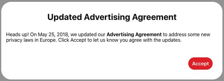 Advertising Agreement Pinterest