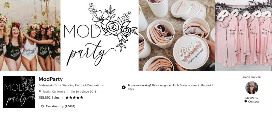 ModParty Etsy Store