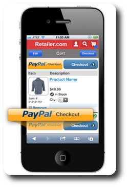 PayPal in a cell phone
