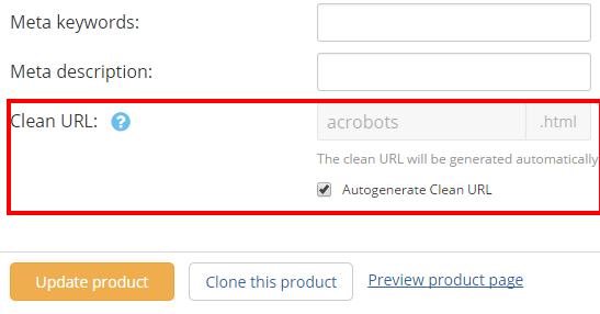 Autogenerate Clean URL