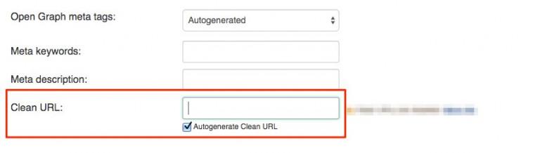 edit clean URLs