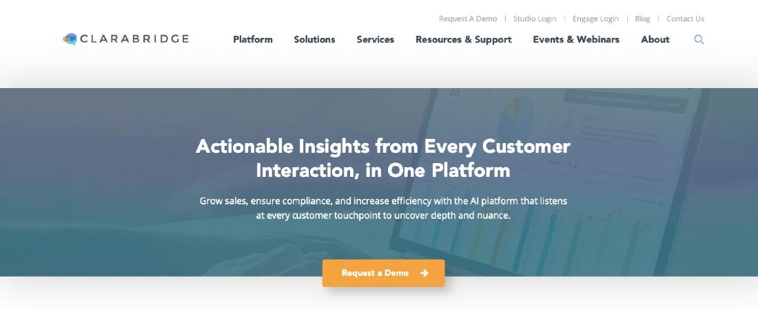 Clarabridge Customer Experience Management Platform