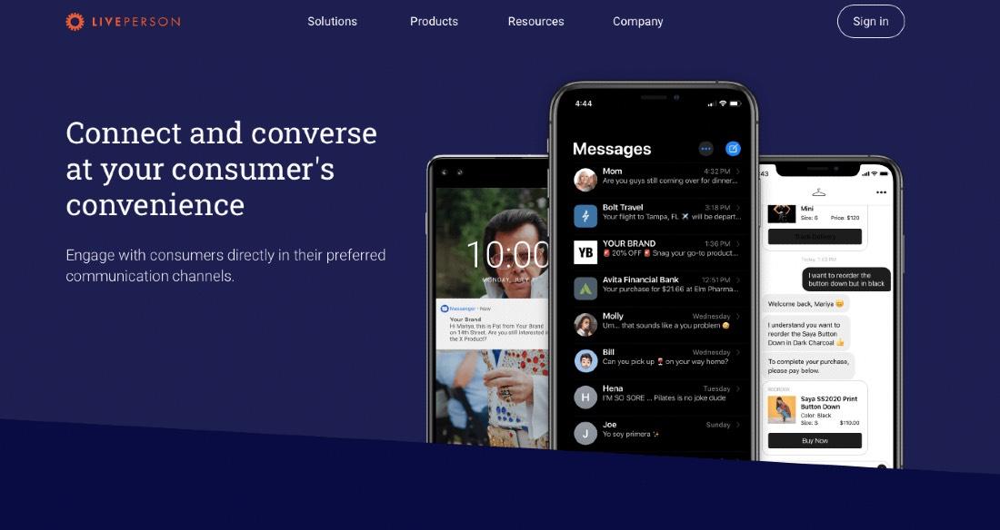 LivePerson Messaging App For Omnichannel Engagement