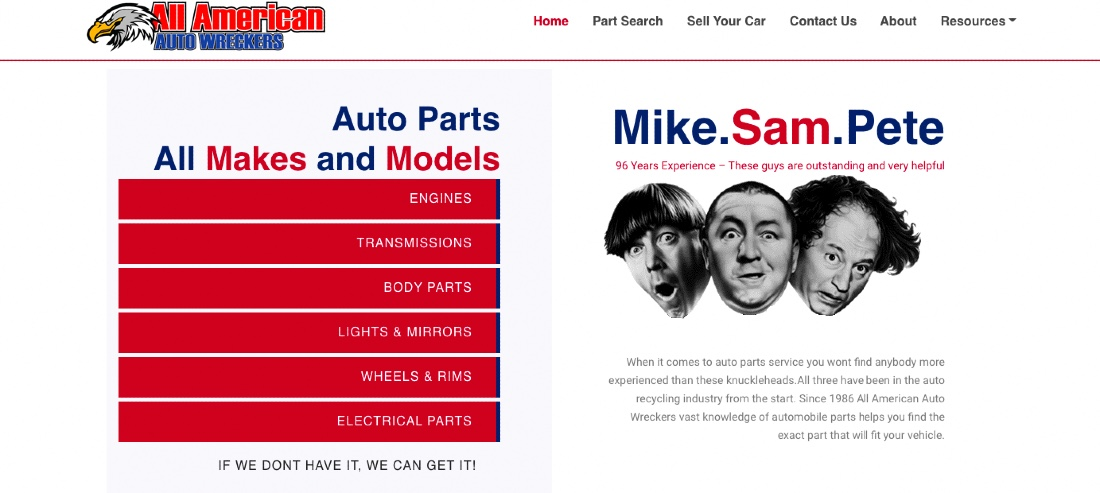 Get excellent support with All American Autowreckers