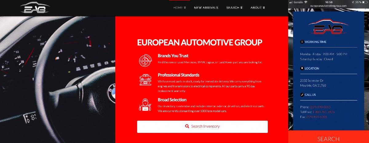 European Automotive Group Mobile Design