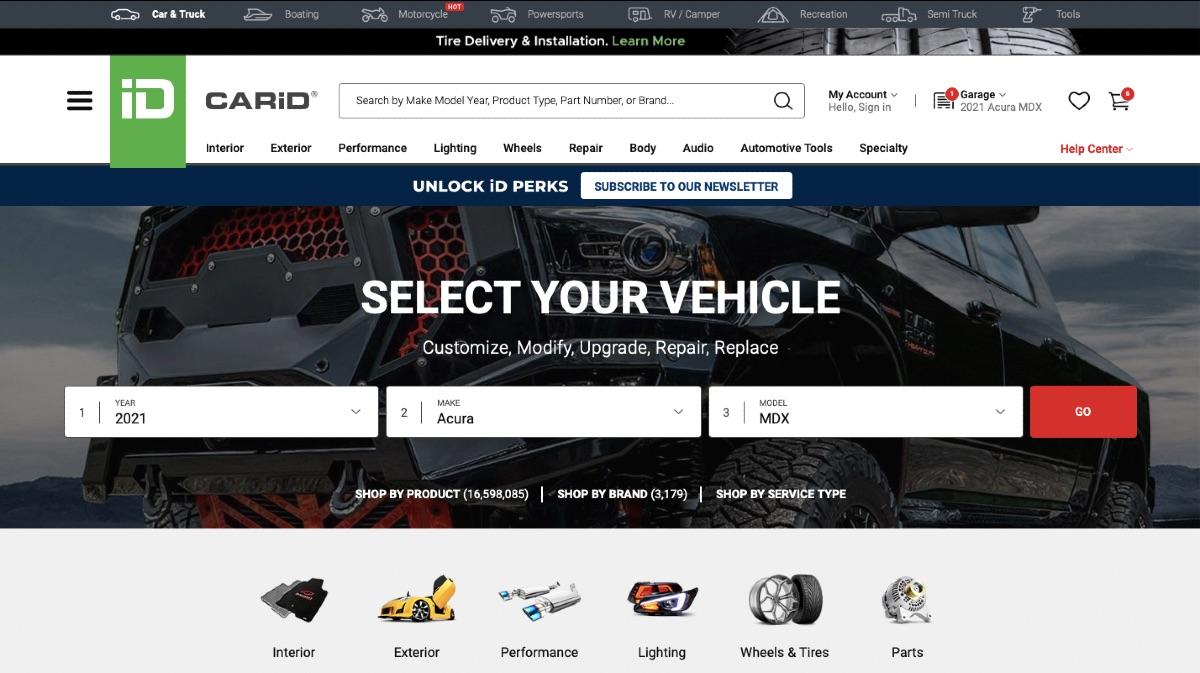 CariID Homepage Design